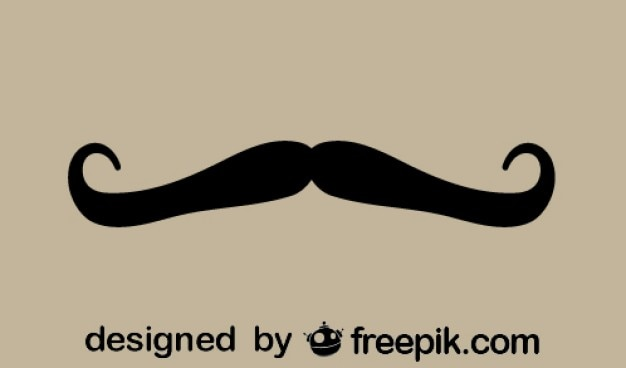 Retro design do bigode silhueta