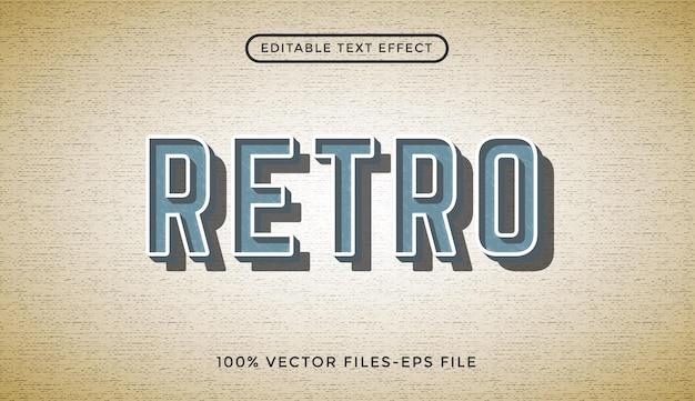 Retro - efeito de texto editável do ilustrador premium vector