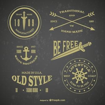 Retro emblema tatuagens