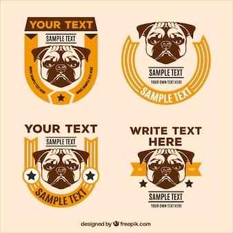 Retro emblemas cão