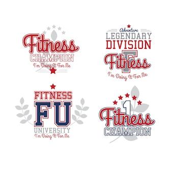 Retro emblemas de fitness