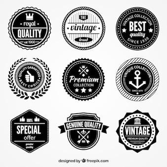 Retro emblemas de qualidade