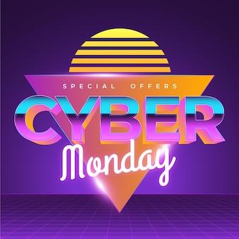 Retro futurista cibernética segunda-feira