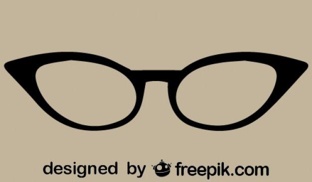 Retro ícone óculos vetor olho de gato