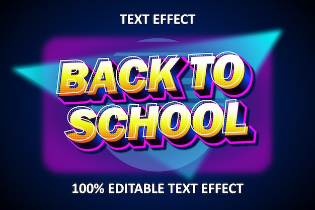Retro light editable text effect blue yellow