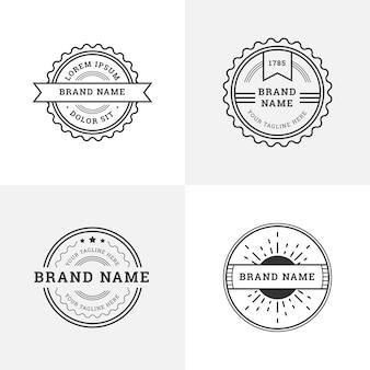 Retro logos com formas redondas