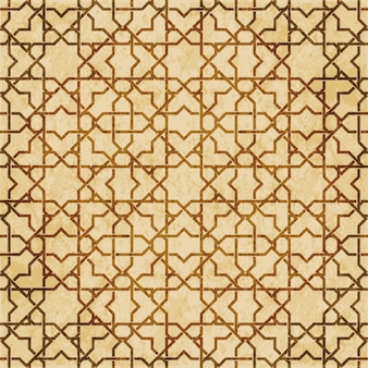 Retro marrom islã geometria sem costura padrão fundo ornamento estilo oriental