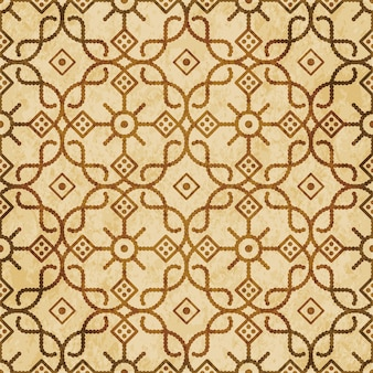 Retro marrom texturizado padrão uniforme, flor de quadro de verificação de curva cruzada redonda linha de pontos