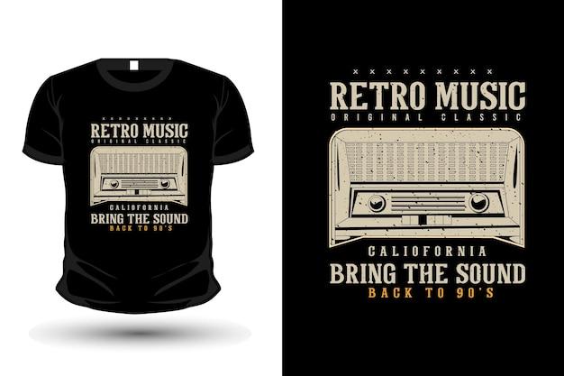 Retro música original roupas tipografia camiseta design estilo vintage retro