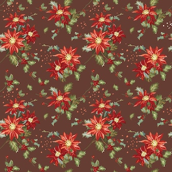 Retro natal seamless background