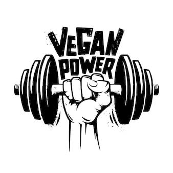 Retro poder vegano.