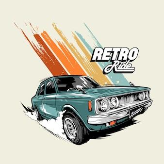 Retro ride graphic ilustração