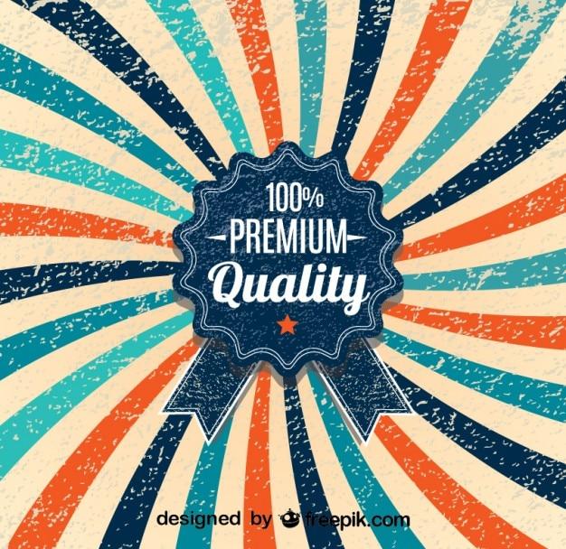 Retro sunburst projeto 100% cartaz de primeira qualidade