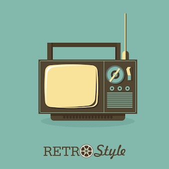Retro tv. ilustração vetorial, logotipo, ícone.