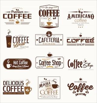 Retro vintage coffee design collection ilustração vetorial