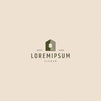 Retro vintage de logotipo de casa