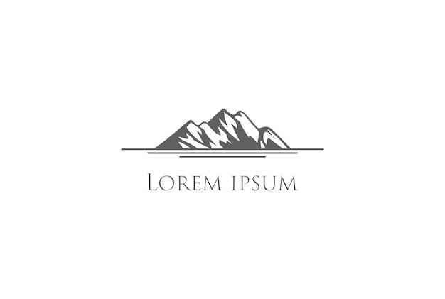 Retro vintage mountain iceberg logo design vector