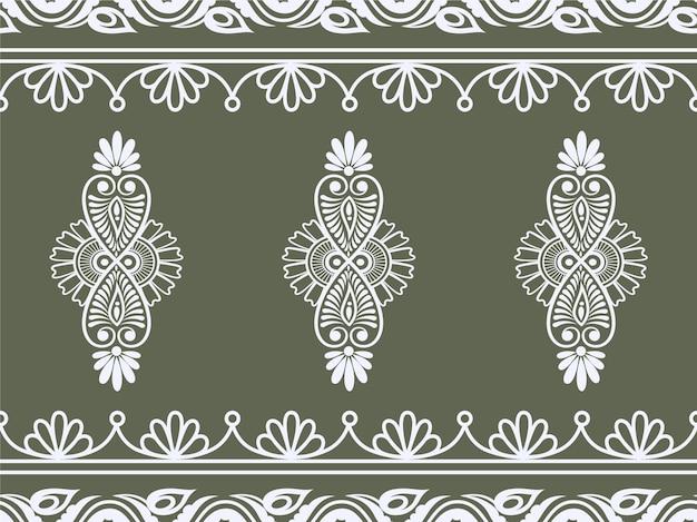 Retro vintage retro abstrato sem costura padrão floral para backgroundfabric art design de moda design de azulejos