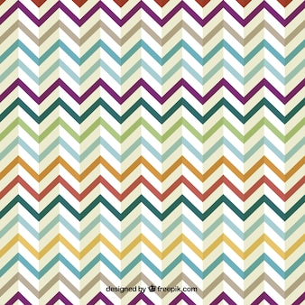 Retro zig zag design colorido