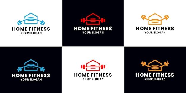Reúna multas domésticas, coleções de design de logotipos de estúdio de ginástica