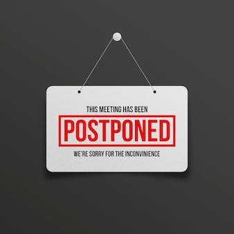 Reunião adiada sobre suspensão de sinal