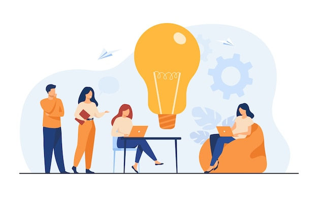 Reunião da equipe de negócios no escritório ou espaço de trabalho compartilhado