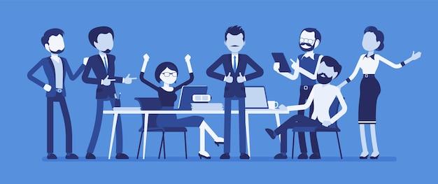 Reunião de equipe bem-sucedida