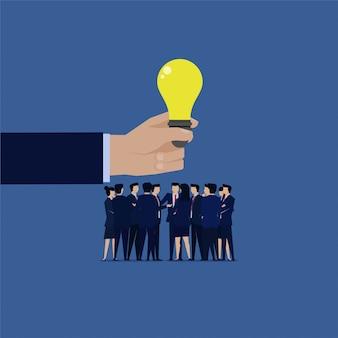 Reunião de equipe de negócios discutir a ideia. ilustração