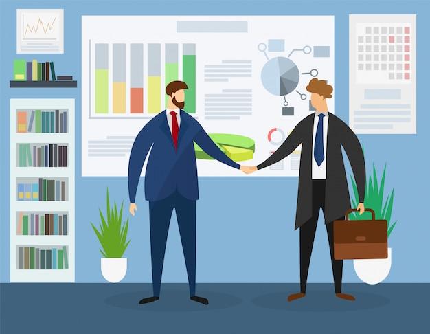 Reunião de líderes de negócios no escritório. colaboração.