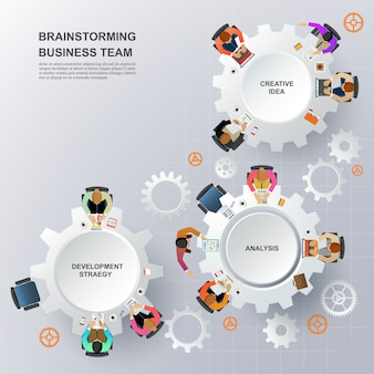 Reunião de negócios e brainstormming.