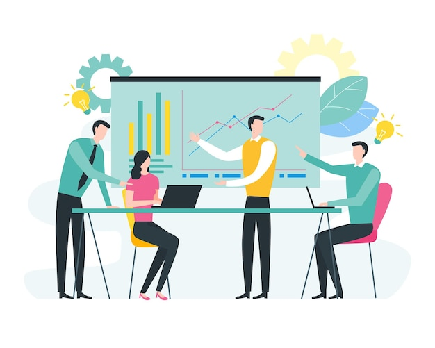 Reunião de negócios e conceito de brainstorming