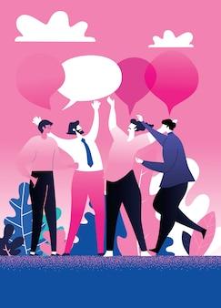 Reunião de negócios e discussão com trabalho em equipe