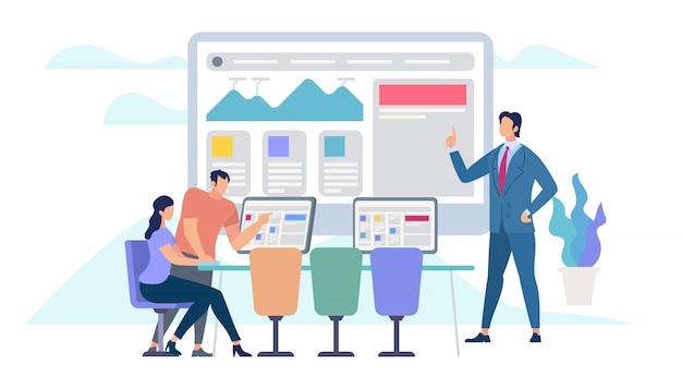 Reunião de negócios e trabalho em equipe