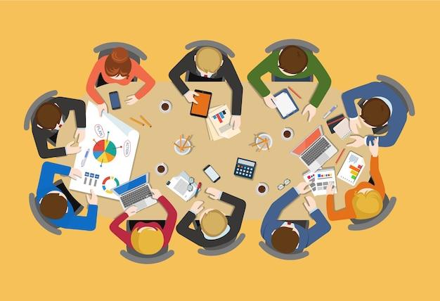 Reunião de negócios, trabalho em equipe