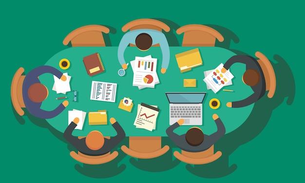 Reunião de planejamento de negócios