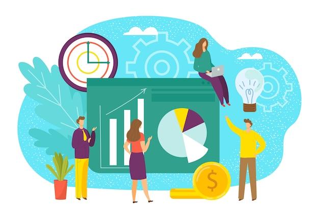 Reunião do grupo empresarial empresarial em ilustração de escritório