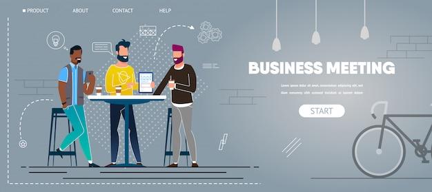 Reunião informal de negócios no cafe creative project