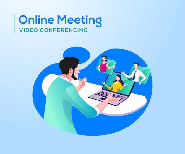 Reunião online e videoconferência