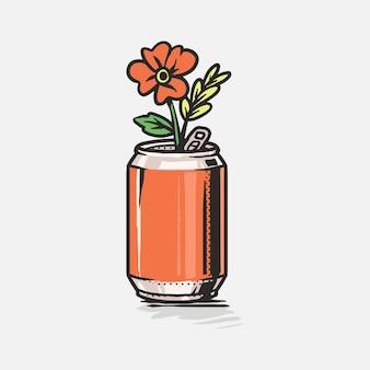 Reutilizar lata, salvar ilustração da terra