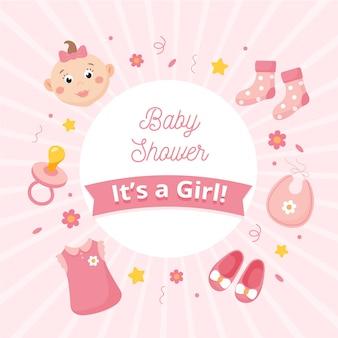 Revelação do chá de bebê para menina