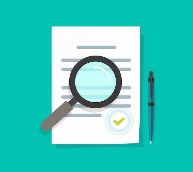 Revisão de auditoria de documento de termos de declaração