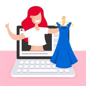 Revisão de blogueiros de moda e vestidos