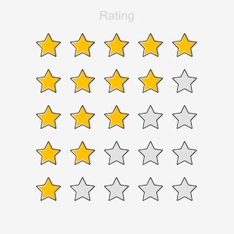 Revisão de classificação de produto de cinco estrelas do cliente.
