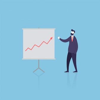 Revisão de empresário sobre ganhos lucrativos