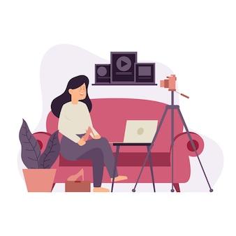 Revisão do blogger em casa