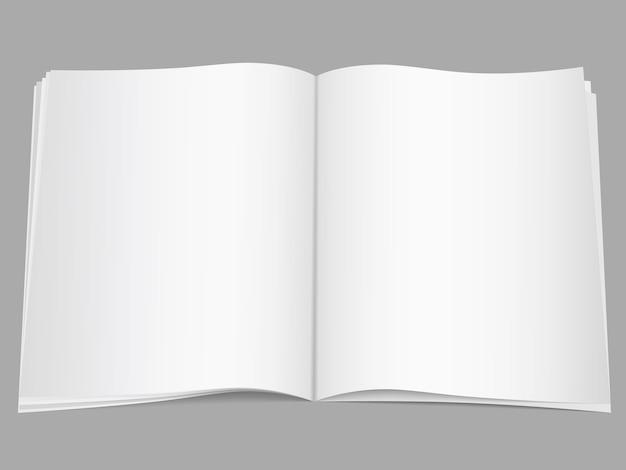 Revista aberta em branco