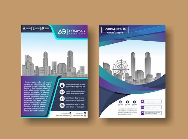 Revista anual book book booklet com imagem do edifício