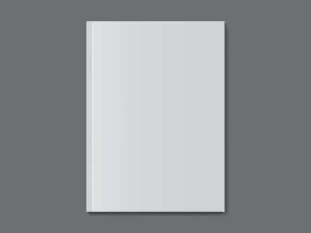 Revista branca em fundo escuro