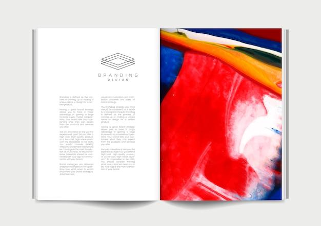 Revista com ideias de branding