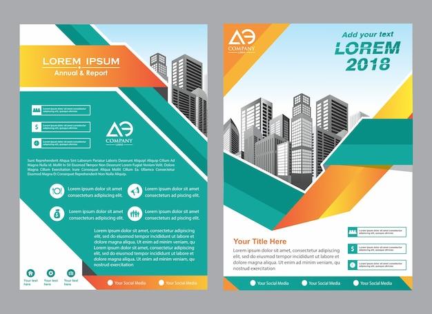 Revista de brochura de layout de capa criativa